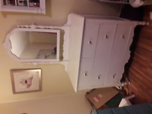 White dresser with mirror for sale $100 OBO