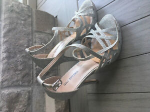 """Silver Sparkly """"Call it Spring"""" Heels"""