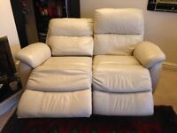 Great Bargain on 3 + 2 Electric Recliner DFS Leather plus Storage Foot stool