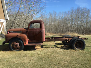 1948 Ford F155 3 Ton Chassis / Cab Tanker Project