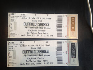 CLUB SEATS Detroit red wings at buffalo nov 23 London Ontario image 1