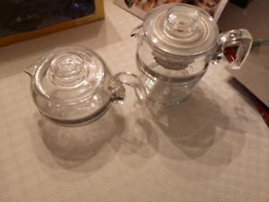 Pyrex Tea Pot Kettle and Percolator Coffee maker
