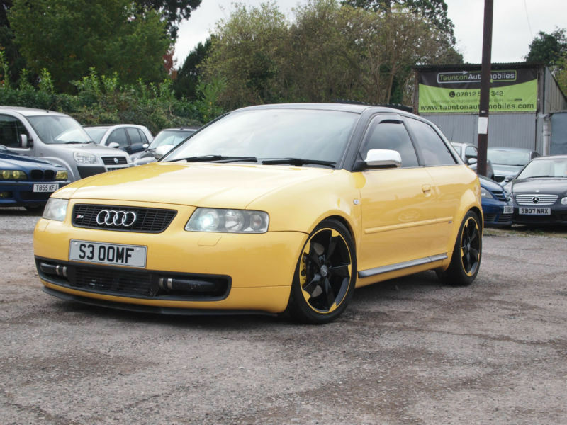 2002 audi s3 1 8t turbo quattro 280bhp 6 speed manual yellow very quick car in taunton. Black Bedroom Furniture Sets. Home Design Ideas