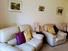 Settee two seater + chair