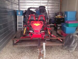 2 seater go cart and trailer for sale