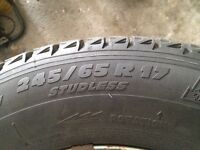 245/65 R 17 MICHELINE WINTER TIRES ON MAGS-RIMS