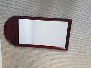 Beautiful cherry wood colour solid wood framed mirror