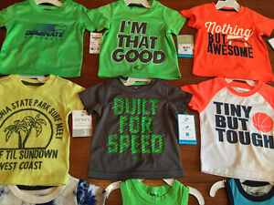New! Osh Kosh and carters tshirts and tanks size 3 months