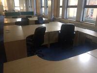 Job lot oak corner desks