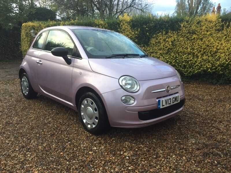 2013 Fiat 500 1 2 Lovely Little Pink Lilac Car In Theale