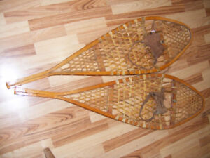 Vintage Gros Louis Wooden SnowShoes - Canadian Made