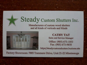 Manufacture Wooden Shutters