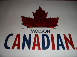 MOLSON CANADIAN ROOM BANNER FOR THE MAN CAVE !