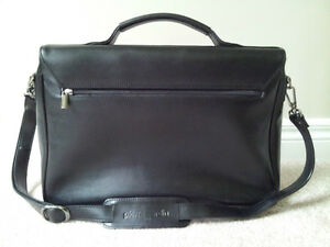 Pierre Cardin Black Leather Business Bag London Ontario image 2
