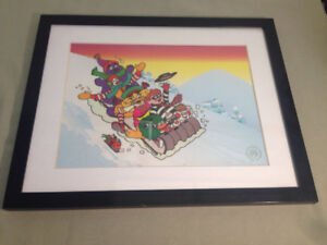 1980S MCDONALD' S LIMITED EDITION SERIGRAPH CEL PRINT GANG