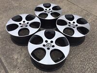 "GENUINE 18"" VW BBS MONZA GTi ALLOYS - GOLF CADDY TOURAN SEAT SKODA - SLOUGH"