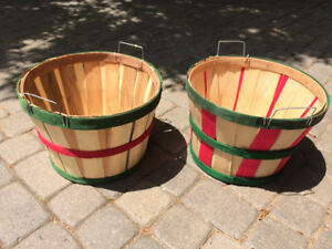 small decorative 1/2 bushel baskets. $12.00 for the pair.