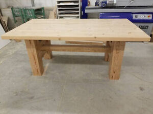 Timber frame dining table