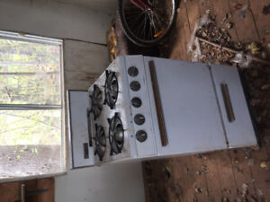 Old wood stoves and propane
