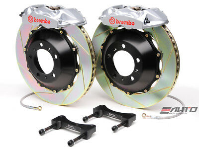 Brembo Rear GT Brake 4pot Silver 345x28 Slot Disc GS350 GS450h IS250 IS350 RC350