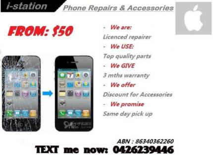 iPhone 4/4s/5/5c/5s/6 Cracked Screen Glass Replacement Service Morley Bayswater Area Preview