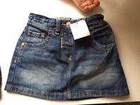 Next girls denim short 12-18 new with tag