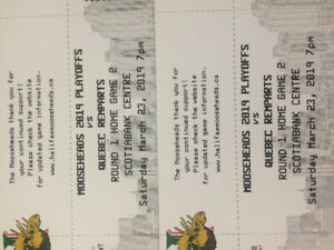 Mooseheads Playoff Game #2 Behind Bench Seats