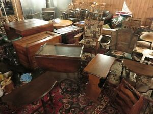 VINTAGE AND ANTIQUE FURNITURE FOR SALE, DINNING TABLES, COFFEE T