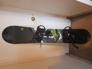 Liquid snow board comes with bindings and boots