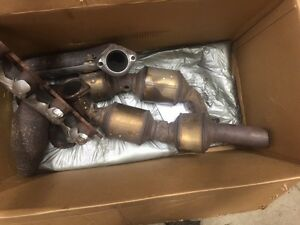 exhaust manifolds and cats LS series motor