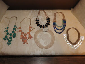 Pretty and bold necklace statement pieces ($10 ea. or 2 for $15)