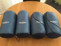 Four sleeping bags