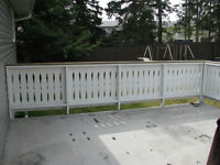 White Wooden Deck Railing for sale