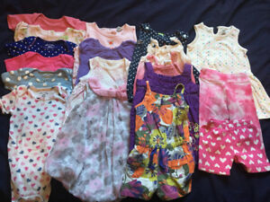 Onesies, rompers and summer dress size 12 months