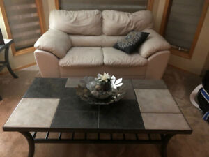 Beautiful slate tile coffee table and end table set