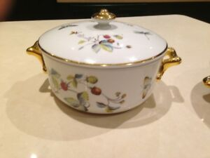 """Royal Worcester """"Strawberry Fair' Serving Dishes"""