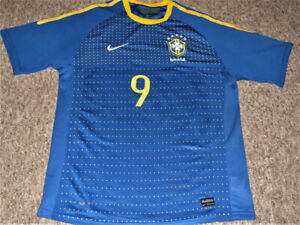 Brazil World Cup Luis Fabiano 2010 Nike Soccer Jersey size Large