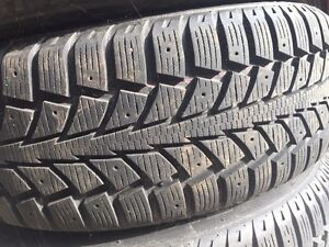 Snow tires with tire cart  Kitchener / Waterloo Kitchener Area image 1