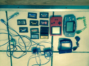Game boy advance and pocket with games and accessories