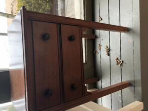 Antique sewing chest/end table