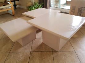 3 waterfall coffee / side tables