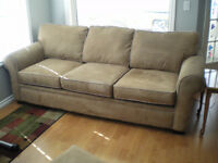 solfa,and chair with, ottoman & divan & 2 cushions