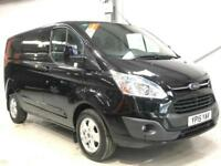 2015 FORD TRANSIT CUSTOM LIMITED LOW MILEAGE 2.2TDCi 125PS L1H1 BLACK VAN SWB