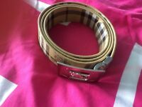 Ladies Burberry belt beige & silver belts accessories