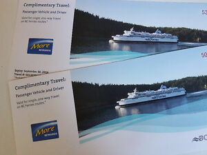 Pair of car and drive ferry passes