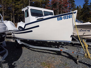 21' Cape boat with newer outboard and trailer
