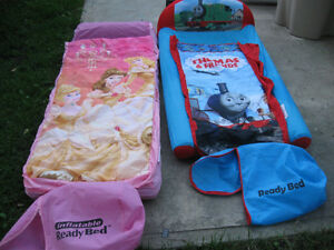 His and hers blowup mattress and sleeping bag