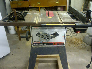 """Craftsman Cast Iron Table Saw 10"""" 1hp"""