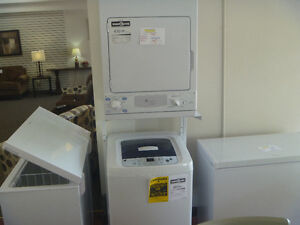 Compact electric washer and dryer
