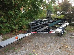 Tandem axle shorelandr boat trailer